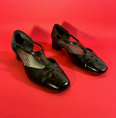 vintage 90s does 60s t-strap vegan leather schoolgirls shoes 9W 9.5