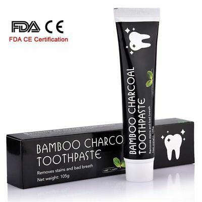 Bamboo Natural Activated Charcoal Teeth Whitening Toothpaste Oral Hygiene Tooth