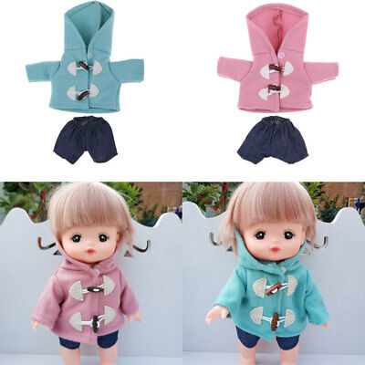 For Mellchan Baby Dolls Coat Hoodies with Pants Doll Clothes Doll Accessory