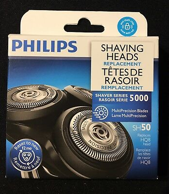 New Philips Shaver Series 5000 Replacement Heads SH50/53 **FACTORY SEALED**