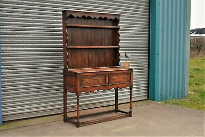 Antique Reproduction Oak Welsh Dresser.