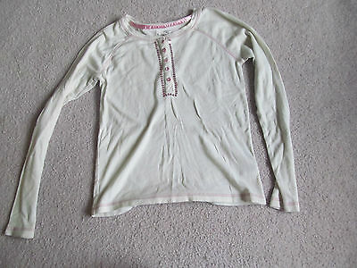 Faded Glory Girl's White Long Sleeved Top Size L(10-12)