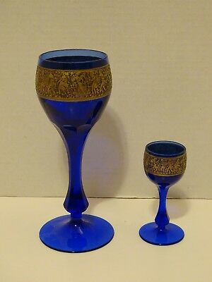 2 Moser Glass Stems For Sale Cordial And Wine Win Both Stems