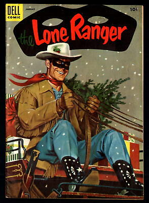 The Lone Ranger #79 Vf+ 8.5 Golden Age Dell Western Christmas Issue! (1954)