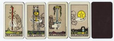 """Magnetic """"Waite-Smith"""" Style Meditative Tarot Aces - All Four Suits!"""