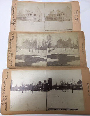 1896 Cleveland State Hospital INSANE ASYLUM Stereoview Lot OHIO LUNATIC 3D Photo