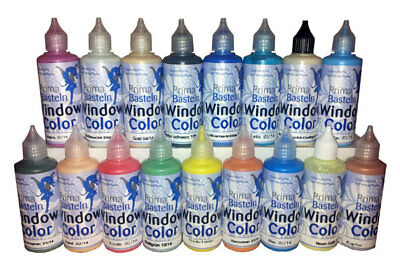 (100 ml=1.86EUR) Window Color Farbe je 80 ml