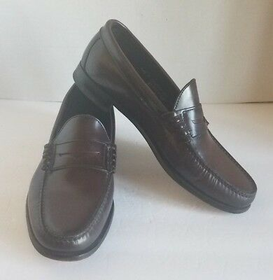 89fe02dfcb9 Florsheim Imperial Men Penny Loafers Solid Brown Leather Slip on Shoes Size  11.5
