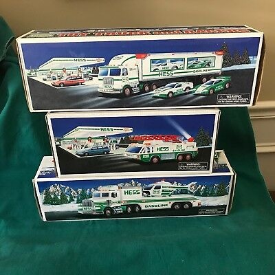 "Lot-Hess 1995 ""toy Truck/helicopter"" 1996 ""emergency"" & 1997 ""toy Truck & Racers"