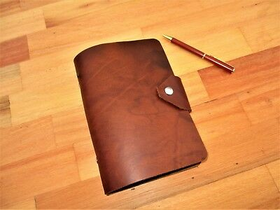 Personalized Leather Diary 2 ring binder for Paper size A6 hole refill paper