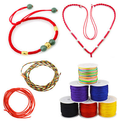 0.8 mm x 45 m Waxed Cotton Cord Wire Thread Beading Macrame String Jewelry DIY
