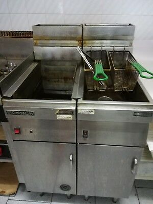 2 Baskets Commercial Single Pan Gas Fryer