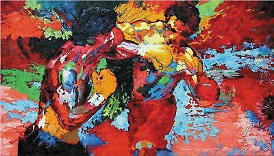 BY487 epro by Leroy Neiman (Rocky vs Apollo) Fabric Poster 14x21 36 40 Hot Decor