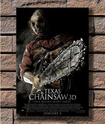 T1673 36 Silk Poster TEXAS CHAINSAW 3D Movie Horror Gore Leatherface Art Print