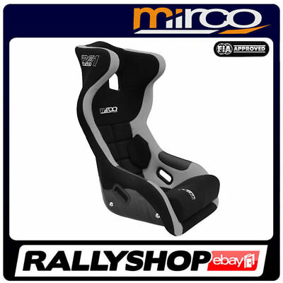 FIA APPROVED Mirco RS1 Racing Seat BLACK GREY velour, Head Restraint 111NRGR