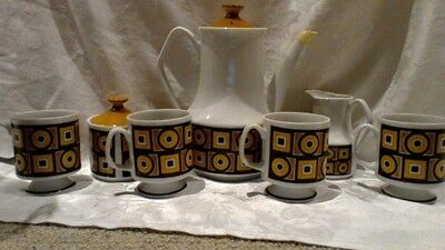 Vintage Retro 70s Japanese Coffee Set