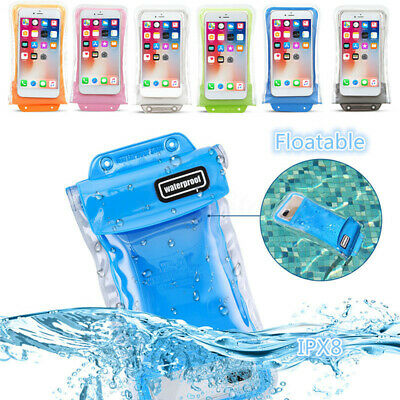 20m Underwater Waterproof Floating Phone Dry Bag Case Pouch For iPhone Samsung