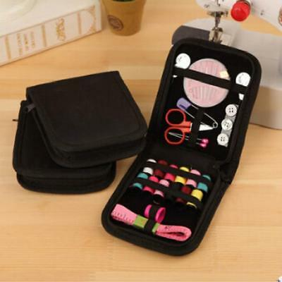 Sewing Kit Measure Scissor Thimble Thread Needle Storage Box Travel Set CF
