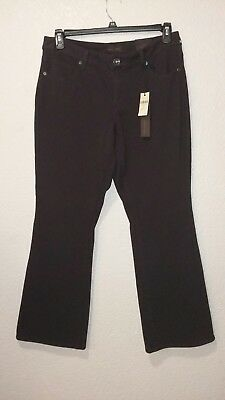 Womens Coldwater Creek Natural Fit Stretch Denim Bootcut Jeans Brown Sz P 12
