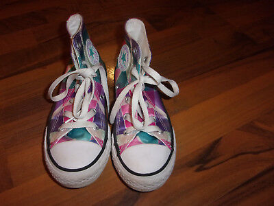 Girls Converse All Star Chuck Taylor Pink Purple High Top Size 13 Jr  Sneakers b875be0f2