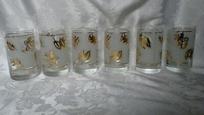 Beautiful Set Of 6 Vintage Drinking Glasses