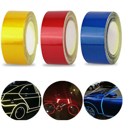 1 Roll Reflective Night Safety Warning Stripe Car Truck Tape Sticker 5cm*3m