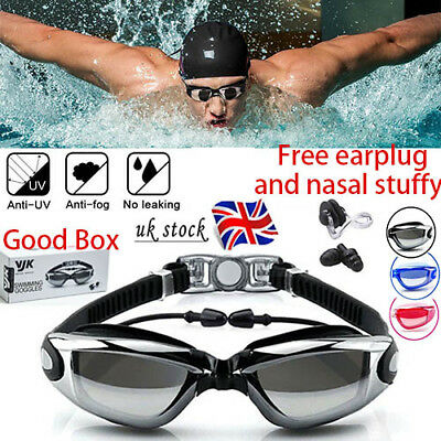 Anti Fog Swimming Goggles for Men Women Boys·Girls Adult Junior.Kids.with.EARBUD