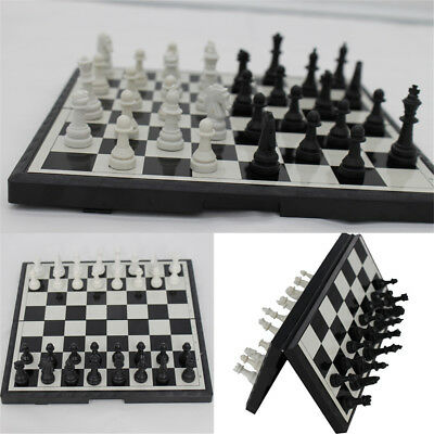 Magnetic Folding Chessboard Chess Board Box Set Portable Kids Game Toy Puzzle SH