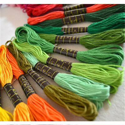 50 Color Egyptian Cross Stitch Cotton Sewing Skeins Embroidery Thread Floss  SH