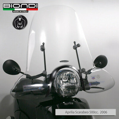 Parabrezza Completo Di Attacchi Windscreen Windshield Scarabeo Light 250 400 500