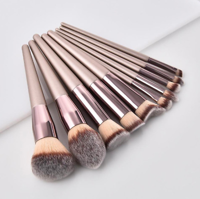 Pro Makeup Wood Brushes Set Foundation Eyebrow Eyeshadow Eyeliner Lip Brush Tool
