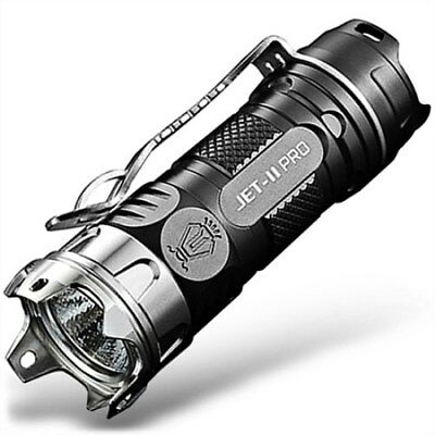 JetBeam II PRO Mini Cree LED Strobe Handheld Flashlight for Camping EDC Hiking