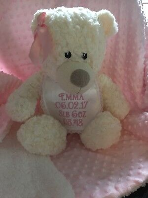 Personalised Memory Bear BIRTH WEIGHT BEAR Memorial Keepsake Weighted