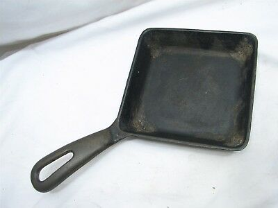Vintage Griswold No. 129 Cast Iron Square Egg Skillet Fry Pan Sandwich