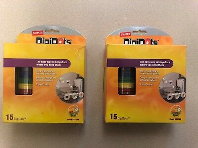 Lot of 2 Staples DigiDots  Easy Way to Hang Discs New