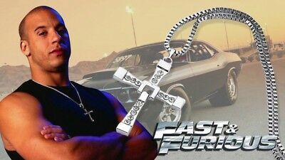 FAST AND FURIOUS 8 COLLANA DOMIC TORETTO Necklace e furios vin diesel croce Dom
