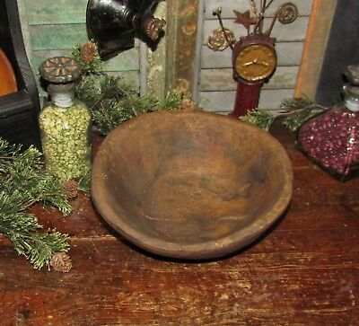 Primitive Antique Vtg Wood Style Hand Hewn Carved Trencher Chop Dough Resin Bowl