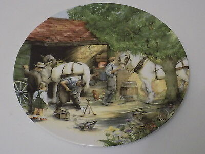 Royal Doulton The Blacksmith Old Country Crafts Susan Neale Collectors Plate