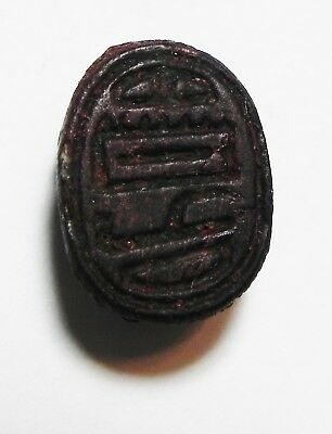 Zurqieh -As10251- Ancient Egypt, New Kingdom Glass Scarab. 1300 B.c