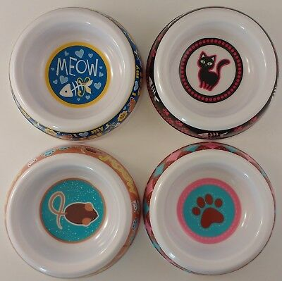 """FOOD WATER BOWLS CAT CATS KITTENS 5.5"""" x 1.5"""" SELECT: Bowl Center Design"""