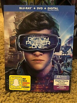NEW Ready Player One Blu Ray DVD & Digital With Slipcover Sealed