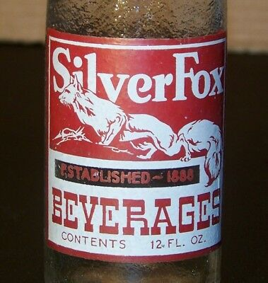 Silver Fox ACL Painted Label Soda Bottle