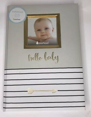 Pearhead Hello Baby, First 5 Years Baby Memory Book with Photo Insert