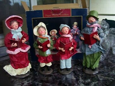 Vintage Paper Mache Carollers Family Set of 4 APEX Christmas Figures *BRAND NEW*