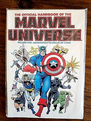 The Official Handbook Of The Marvel Universe Volume 1 Graphic Novel MINT!