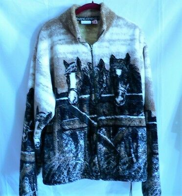 Beautiful Outback Trading Co SOFT Horse  Medium women's Zip Jacket  Lot Z