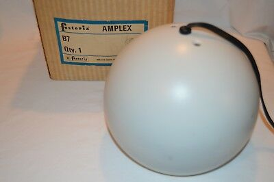 Vintage Fostoria White Round Eyeball Light Mid Century Modern Art Deco Space Age