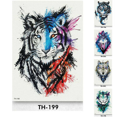 Temporary Tattoo Animal  Fake Body Art Sticker Waterproof Mens Ladies