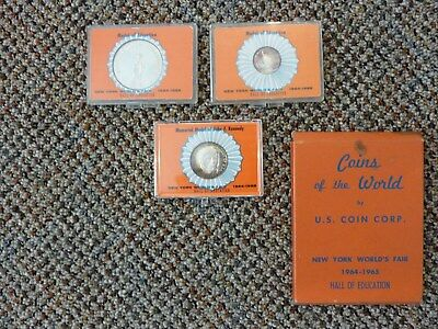 Uncirculated New York World's Fair 1964-65 Silver Coins - Cased - Us Coin Corp.