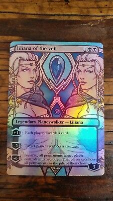 Magic the Gathering altered art sexey Liliana of the Veil foil great gift